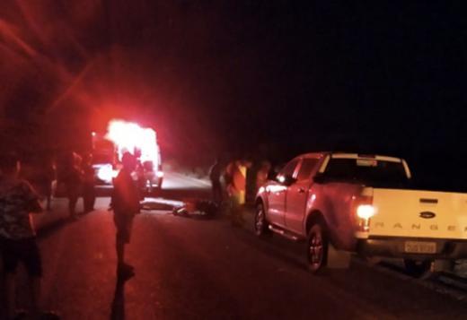 Rio de Contas: Motociclista morre após colidir moto contra cavalo na BA-148