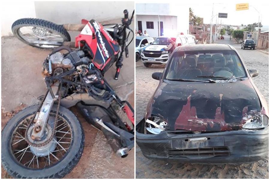 Guajeru: Colisão entre carro e moto deixa duas vítimas fatais