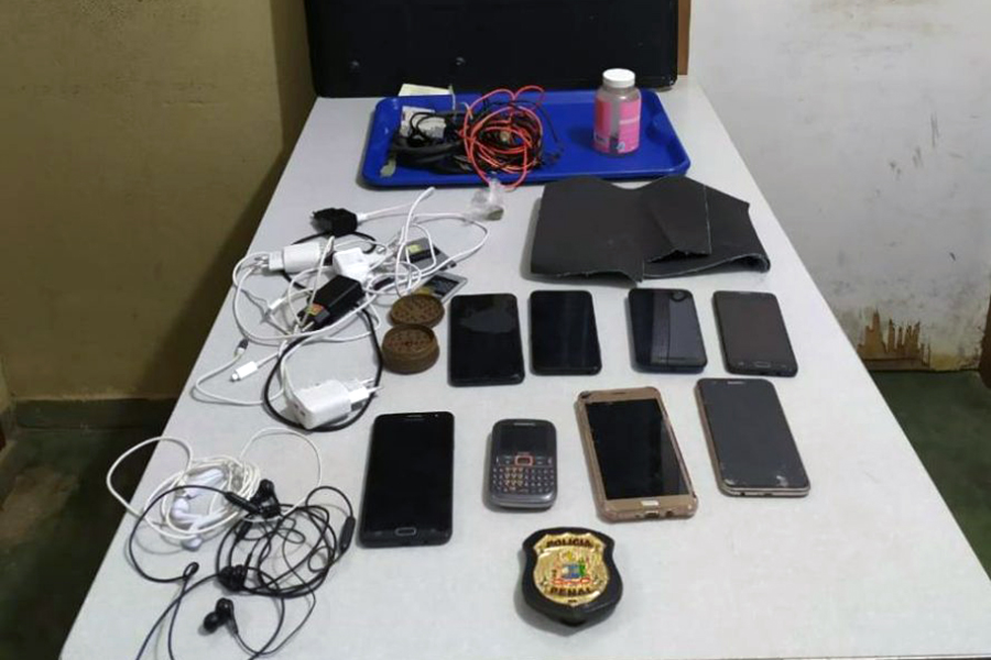 Conquista: GEOP apreende celulares, drogas e outros objetos no presídio Nilton Gonçalves