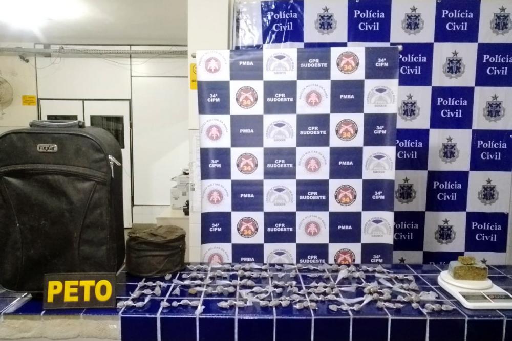 Ibicoara: PM apreende grande quantidade de droga em Cascavel