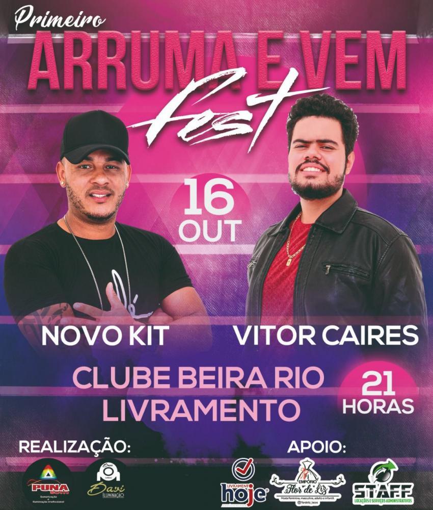 'Arruma e Vem Fest', neste sábado (16) no Clube Beira Rio