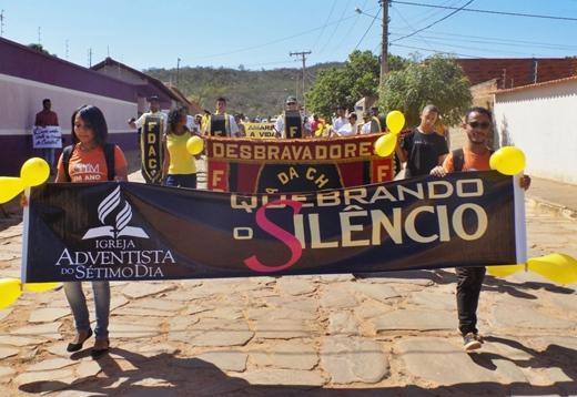 Rio de Contas: Igreja Adventista realiza projeto, 'Quebrando o Silêncio'