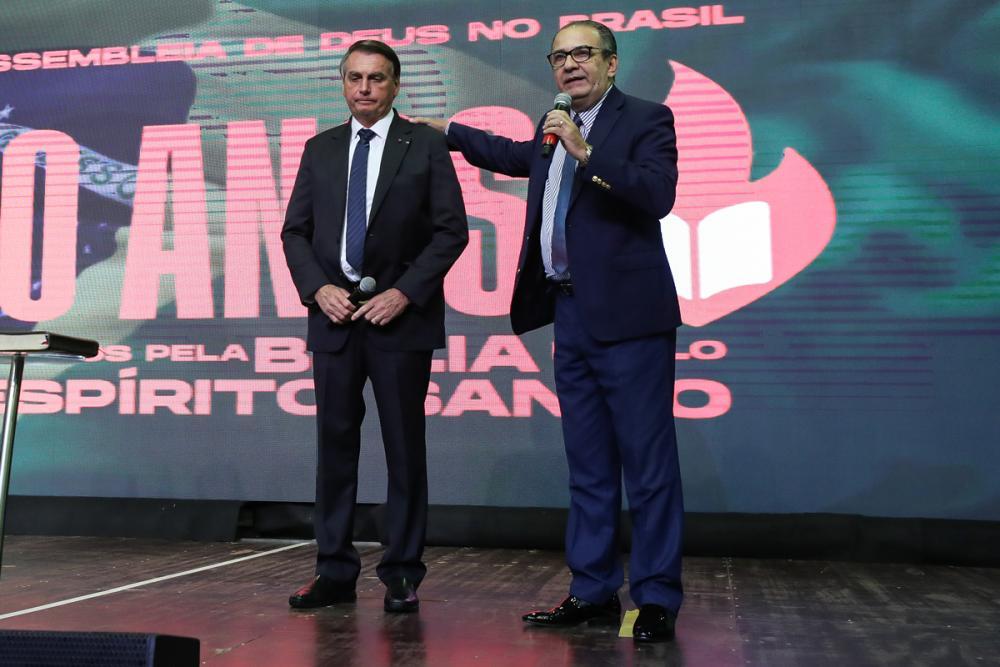 Em ato com Malafaia, Bolsonaro reafirma que vai nomear evangélico ao STF