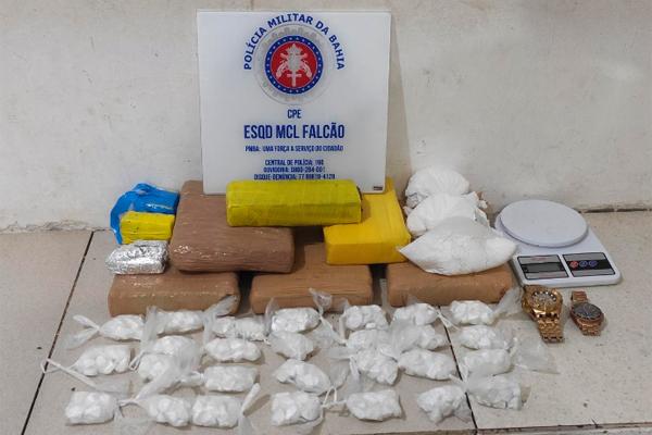 Conquista: Adolescente e comparsas são flagrados com 6 kg de drogas