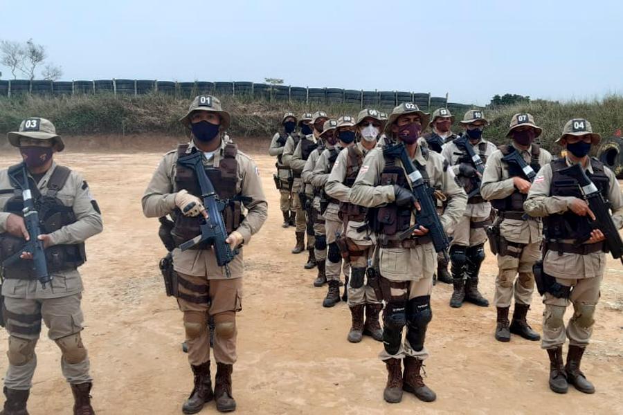 Policiais da 46ª CIPM participam do VIII curso básico de Emprego Tático Operacional Sudoeste