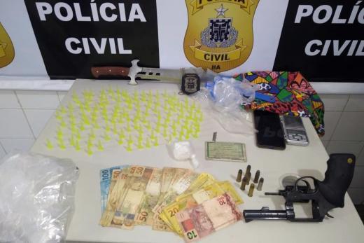 Suspeito de tráfico e envolvido em sequestro são presos em Itapetinga