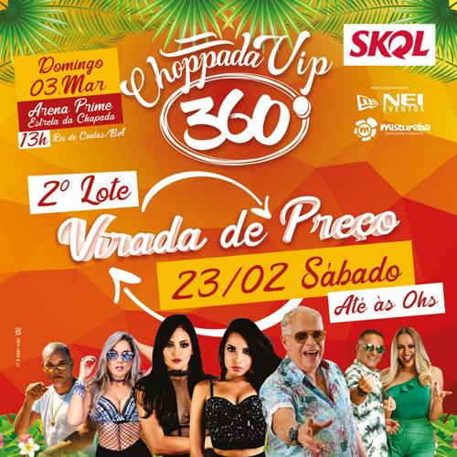 Carnaval de Rio de Contas: Adquira o ingresso da Choppada VIP 360° antes da virada de preço