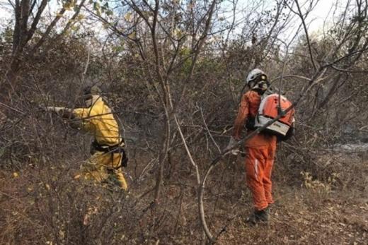 Brigadistas controlam incêndio no Parque Nacional da Chapada Diamantina