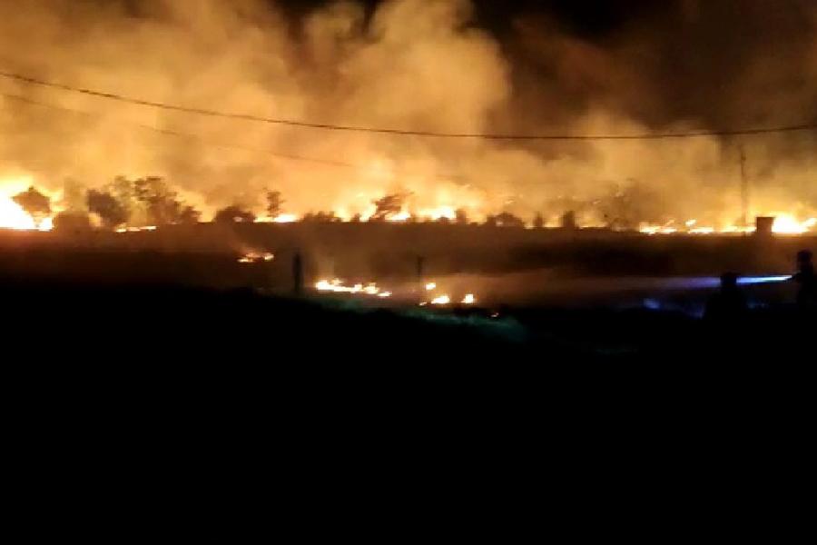 Incêndio atinge área de vegetação de 20 mil metros quadrados em Guanambi