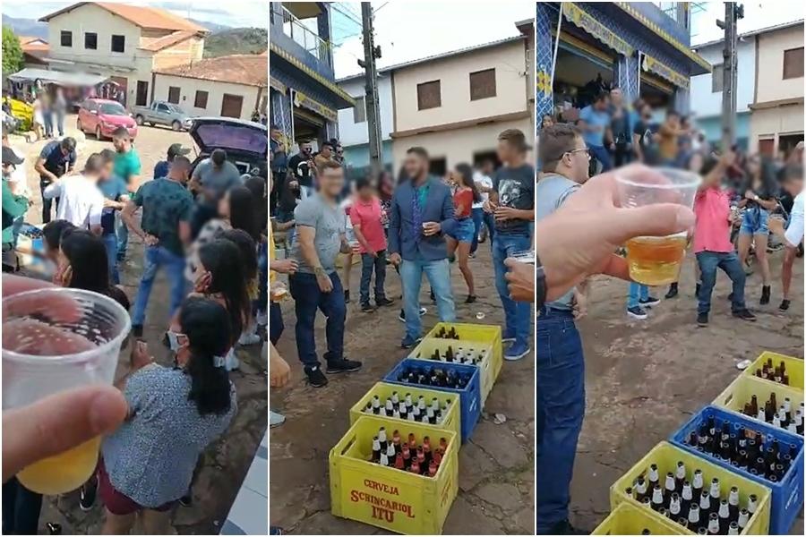 Rio de Contas: Jovens promovem festa com muita cerveja e aglomeração em Mato Grosso; Veja o vídeo